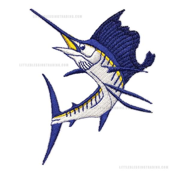 Diseño de bordado pez vela   Etsy