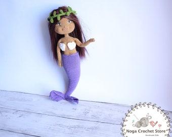 Crochet pattern Morgana the Mermaid doll