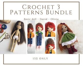 Crochet amigurumi dolls Pattern Bundle