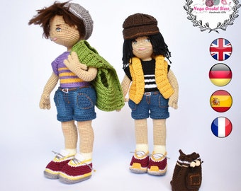 Crochet Boy doll amigurumi pattern