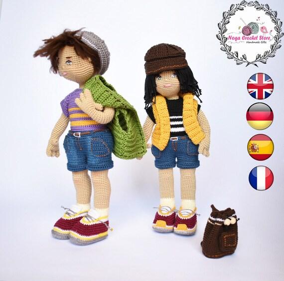 Amigurumi crochet boy doll pattern available on etsy by ... | 563x570