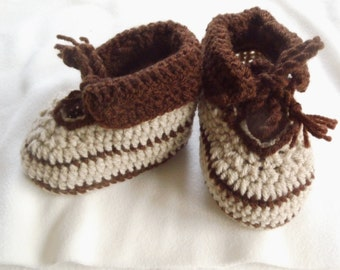 PDF Crochet Instructions Baby Shoes ,Foot Length 11 cm,6-8 Months