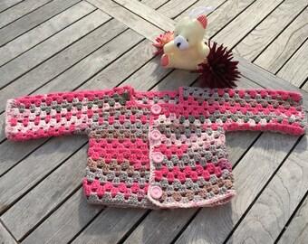PDF crochet instructions ,Baby/Children's Jacket gr.62/68 , 74/80 ,86/92