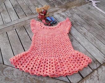 PDF crochet instructions Pulli , dress gr.62/68 , 74/80 ,86/92
