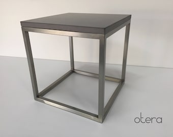 Concrete & Stainless steel occasional table/coffee table in Anthracite   Otera