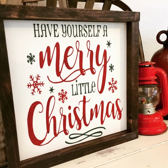 Have Yourself A Merry Little Christmas Sign.Merry Christmas Sign Have Yourself A Merry Little Christmas Sign Winter Decor Christmas Decor Tree Sign Holiday Decor Rustic Holiday