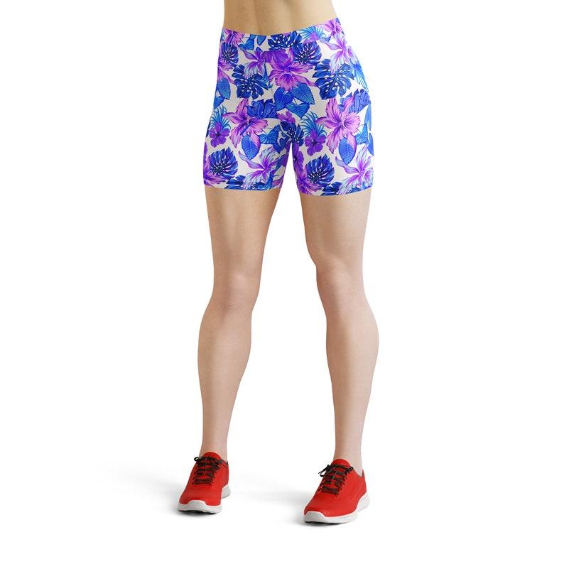 Printed Tights Exercise Leggings Workout Leggings Activewear Fitness Leggings Tropical Palm Leaves Leggings Yoga wear Yoga Pants