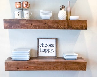 FREE SHIPPING! Floating Shelf, Custom Floating Shelves, Floating Shelves, Farmhouse Shelf, Open Shelving, Kitchen Shelf, Bathroom Shelf