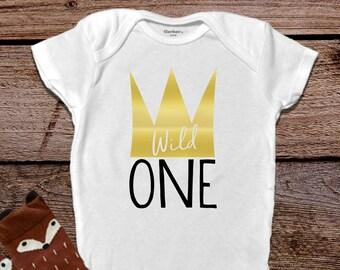 Wild One Onesie®, Baby Boy Clothes, Baby Shower Gift, First Birthday Shirt, Funny Baby Onesie®, Hipster Baby Clothes, Trendy Baby Clothes