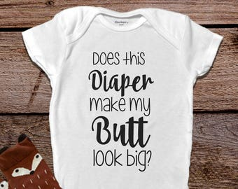 Diaper Butt Funny Baby Onesies®, Funny Baby Onesies®, Baby Girl Clothes, Funny Baby Gift, Hipster Baby Clothes, Baby Shower Gift
