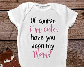 Funny Baby Onesies®, Baby Girl Clothes, Baby Girl Saying, Baby Girl Outfit, Mommy Onesie®, Mommy Baby Outfit, Trendy Baby, Mom Onesie®