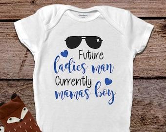 b03e96bff Mama's Boy Onesies®, Funny Baby Onesies® Cute Boy Onesies® Funny Baby Boy  Onesies® Bodysuits