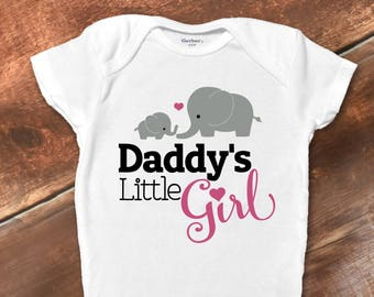 Elephant Baby Onesie®,Daddy Onesies®, Funny Baby Onesie®, Baby Girl Onesies®, Baby Girl Clothes, Elephant Baby Gift, Fathers Day Onesies®