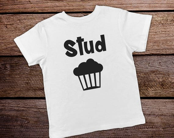 Stud Muffin Funny Toddler Shirt, Toddler Boy Clothes,  Funny Kids Shirts, Hipster Toddler Shirt, Trendy Toddler Boy, Toddler Clothes