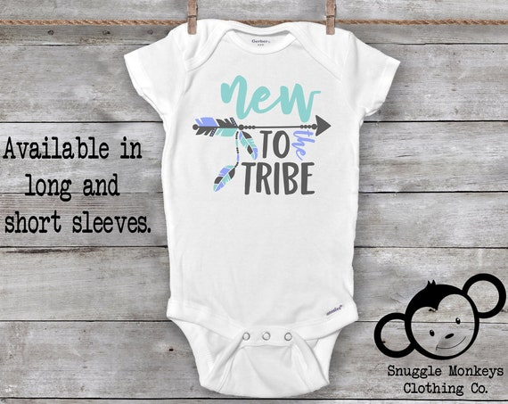 New to the Tribe Onesie®, Baby Boy Clothes, Boho Baby Clothes, Baby Shower Gift, Boho Onesie®, Cute Onesie®, Baby Boy Gift, New Baby Gift
