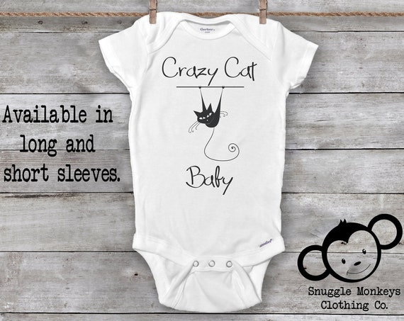 Crazy Cat Baby Onesie®, Funny Baby Onesie®, Cat Onesie®, Baby Shower Gift, Cat Baby Clothes, My Siblings Have Paws, Cute Baby Onesie®