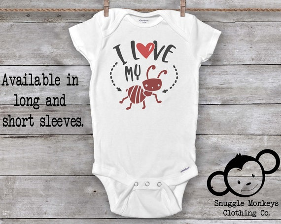 I Love My Aunt Onesie®, Funny Baby Onesie®, My Aunt Loves Me Onesie®, Aunt Onesie®, Baby Shower Gift, Pregnancy Reveal to Aunt, Cute Onesies