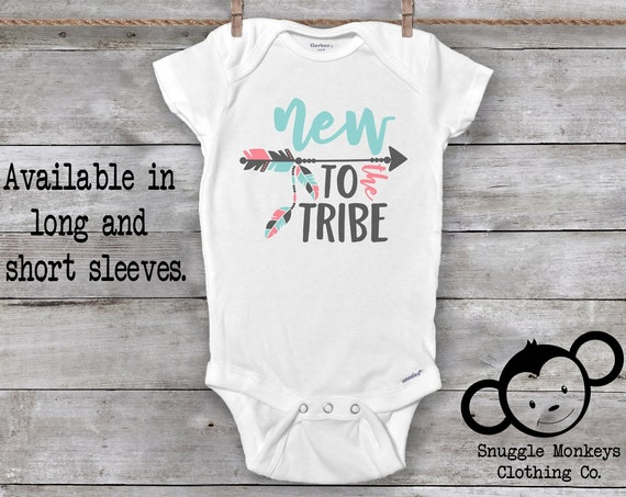 New to the Tribe Onesie®, Baby Girl Clothes, Boho Baby Clothes, Baby Shower Gift, Boho Onesie®, Cute Onesie®, Baby Girl Gift, New Baby Gift
