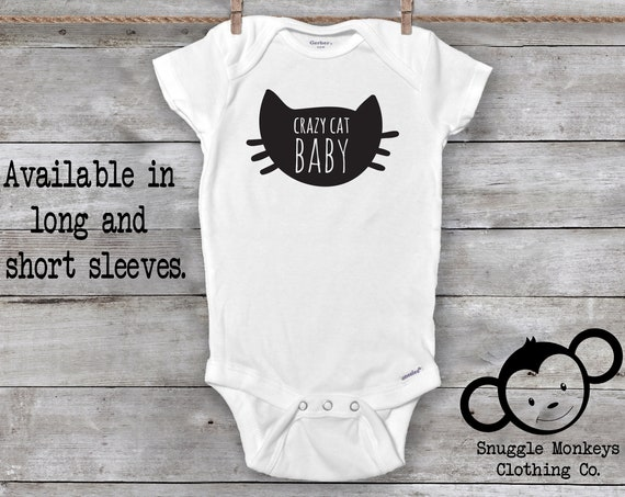 Funny Baby Onesie®, Crazy Cat Baby Onesie®, Cat Onesie®, My Siblings Have Paws, Cat Baby Clothes, Baby Shower Gift, Baby Girl, Baby Boy