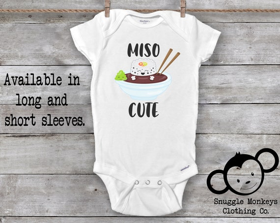 Miso Cute Onesie®, Baby Shower Gift, Baby Girl Clothes, Baby Boy Clothes, Funny Baby Onesie®, Sushi Onesie®, Cute Baby Onesie®, Hipster Baby