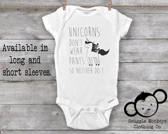 Unicorn Baby Onesies®, Funny Baby Onesie, Unicorn Baby Outfit, Funny Baby Clothes, Baby Girl Clothes, Baby Shower Gift, Hipster Baby Clothes
