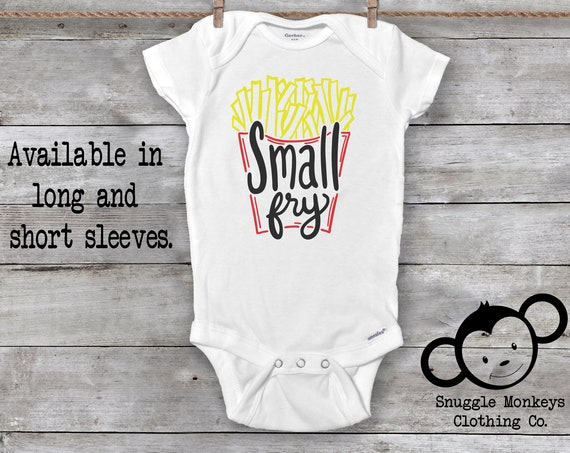 Small Fry Onesie®, Funny Baby Onesie®,Baby Shower Gift, Food Baby Clothes, French Fry Onesie®, Baby Girl Clothes, Baby Boy Clothes