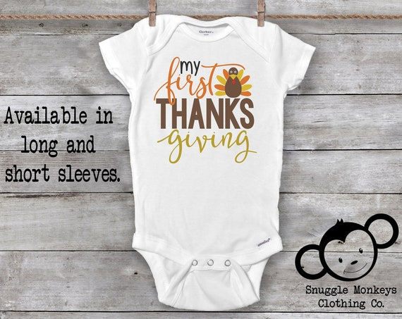 First Thanksgiving Onesie®, Little Turkey Onesie®, Turkey Baby Clothes, Turkey Baby Onesie®, First Thanksgiving Outfit, Baby Girl, Baby Boy