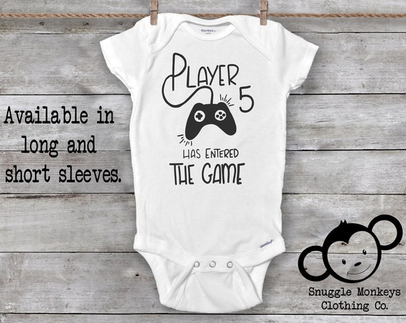 Player 5 Has Entered The Game, Player 5 Onesie®, Future Gamer, Gaming Baby Onesie®, Baby Shower Gift, Gamer Baby Onesie®, Gamer Baby Clothes