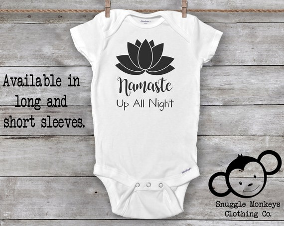 Namaste Onesie®, Yoga Onesie®, Funny Baby Onesie®, Yoga Baby Clothes, Baby Boy Clothes, Baby Girl Clothes, Baby Shower Gift, Pun Onesie®