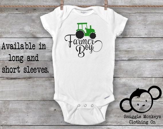 Farmer Boy Onesies®,Farm Onesies®, Farm Baby Clothes, Baby Boy Clothes, Baby Shower Gift, Cute Boy Onesies®, Baby Boy Tractor Shirt