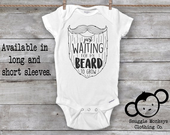 Waiting for my Beard Onesie®, Funny Baby Onesie®, Beard Baby Clothes, Beard Like Daddy, Baby Shower Gift, Beard Onesie®, Baby Boy Beard