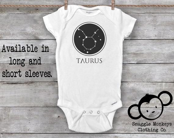 Taurus Onesie®, Taurus Baby Clothes, Zodiac Baby Clothes, Baby GIrl Clothes, Baby Boy Clothes, Constellation Onesie®, Astrology
