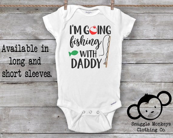 Fishing Onesie®, Fishing Baby Clothes, Fishing with Dad, Daddy's Fishing Buddy Onesie, Baby Shower Gift, Baby Boy Clothes, Baby Girl Clothes