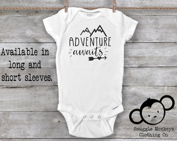 Adventure Awaits Onesie®, Pregnancy Reveal, Pregnancy Announcement, Pregnancy Reveal to Grandparents, Baby Announcement, Greatest Adventure