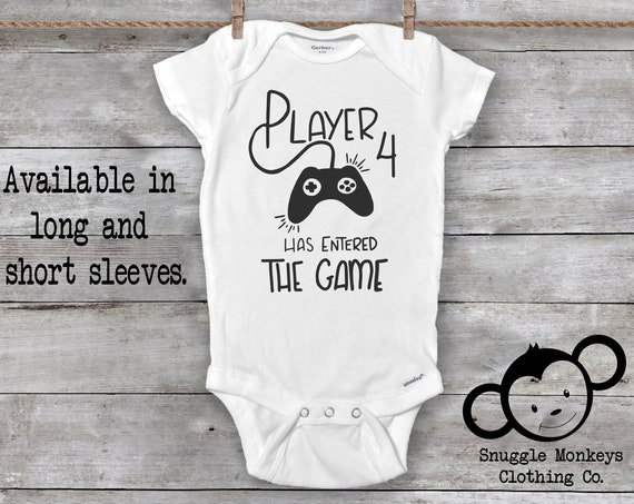 Player 4 Has Entered The Game, Player 4 Onesie®, Future Gamer, Gaming Baby Onesie®, Baby Shower Gift, Gamer Baby Onesie®, Gamer Baby Clothes