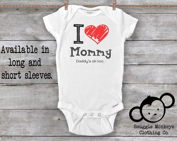 I Love Mommy Onesie®, Funny Baby Onesie®, Mommy Loves Me Onesie®, Funny Mom Onesie®, Baby Shower Gift, Cute Baby Clothes, Unique Baby Gift