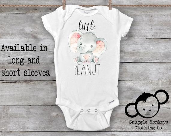 Little Peanut Onesie®, Elephant Onesie®, Baby Shower Gift, Elephant Baby Gift, Baby Girl Clothes, Sweet Baby Girl Onesie®, Baby Girl Gift