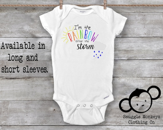 The Rainbow After The Storm Onesie®,  Rainbow Baby Onesie®,  Miracle Baby Onesie®, Cute Baby Clothes, Rainbow Baby Clothes, Baby Shower Gift
