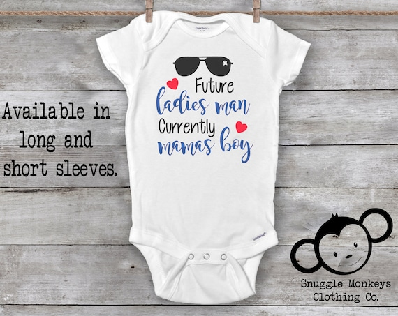 Future Ladies Man Onesie®, Funny Baby Onesie®, Mama's Boy Onesie®, Straight Up Mama's Boy, Baby Shower Gift, Baby Boy Gift, Mama Onesie®