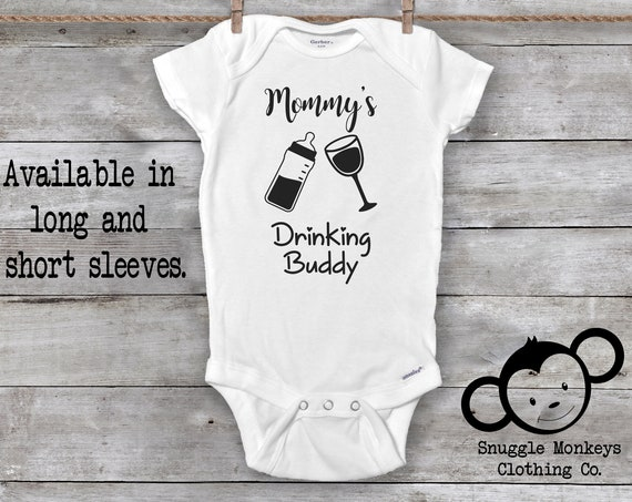 Wine Onesie®, Mommy Onesie®, Funny Baby Onesie®, Mommy's Drinking Buddy Onesie®, Funny Baby Clothes, Mother's Day, Baby Shower Gift