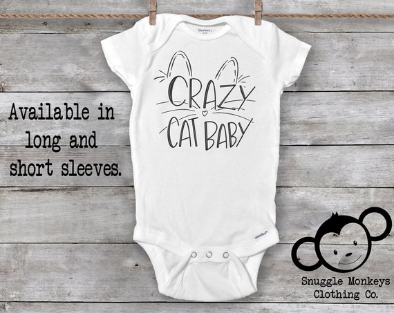Crazy Cat Baby Onesie®, Funny Baby Onesie,  Me Your Kitties, Future Crazy Cat Lady, Baby Shower Gift, Cat Baby Gifts, Unique Baby Gifts