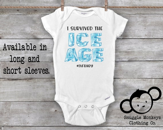 Ice Age Onesie®, Funny IVF Onesie®, Made with Love and Science Onesie®, Ivf Baby Shirt, IVF Baby Annoucement, IVF Gift