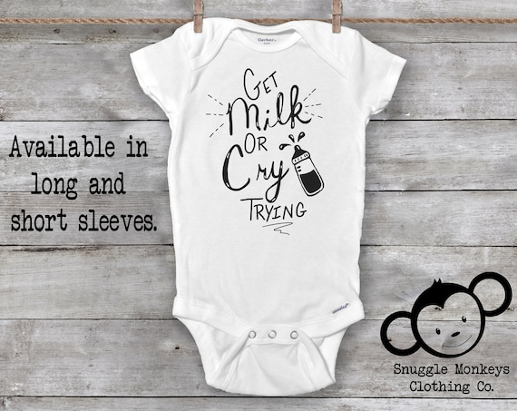 Milk Onesie®, Funny Baby Onesie®, Baby Shower Gift, Cute Baby Clothes, Unisex Baby Clothes, Baby Girl Clothes, Baby Boy Clothes, Hipster