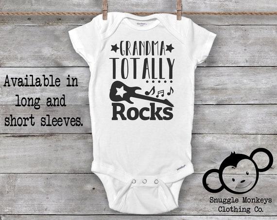 Grandma Rocks, My Grandma Onesie®, I Love My Grandma Onesie®, Grandma Baby Clothes, Baby Shower Gift, Unisex Baby Clothes, Cute Baby Onesie®