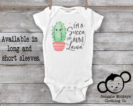 Aunt Onesie®, Funny Baby Onesie®, Aunt Baby Clothes, Cactus Onesie®, My Aunt Loves Me Onesie®, Funny Aunt Onesie®, Baby Shower Gift