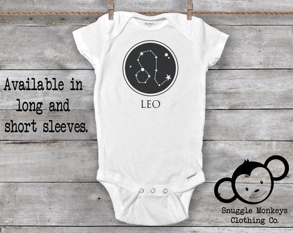 Leo Onesie®, Leo Baby Clothes, Zodiac Baby Clothes, Baby GIrl Clothes, Baby Boy Clothes, Constellation Onesie®, Astrology Gift