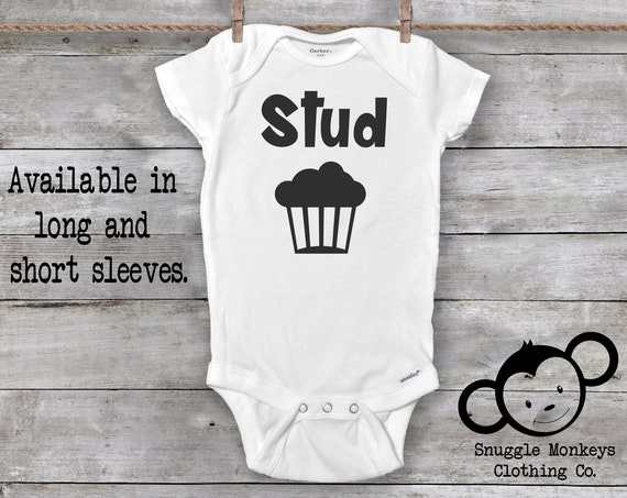 Stud Muffin Onesie®, Funny Baby Onesie®, Funny Baby Boy Gift, Baby Shower Gift, Funny Baby Clothes, Baby Boy Clothes, Funny Baby Gifts