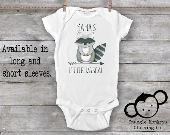 Raccoon Onesie®, Raccoon Baby Clothes, Mommy Loves Me Onesie®, Mama Onesie®, Baby Shower Gift, Woodland Animal Onesie®, Mama's Boy Onesie®