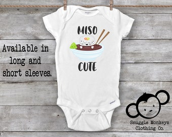 cdd1ba77c Miso Cute Onesie®, Baby Shower Gift, Unisex Baby Clothes, Baby Boy Clothes,  Funny Onesies®, Sushi Onesie®, Cute Baby Onesies®, Hipster Baby