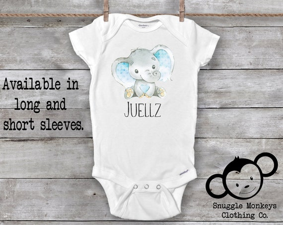 Baby Name Onesie®, Personalized Baby Gifts, Elephant Baby Clothes, Baby Boy Clothes, Unique Baby Gift, Baby Keepsake, Baby Shower Gift